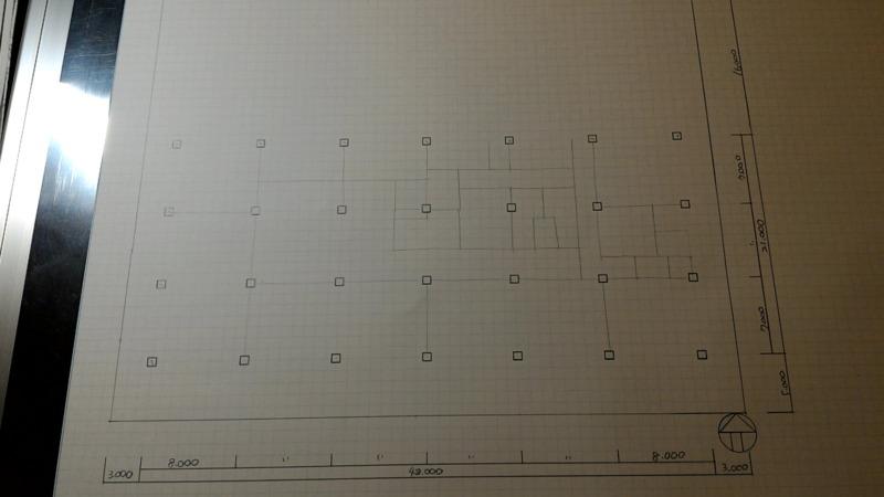 一級建築士製図試験作図手順4