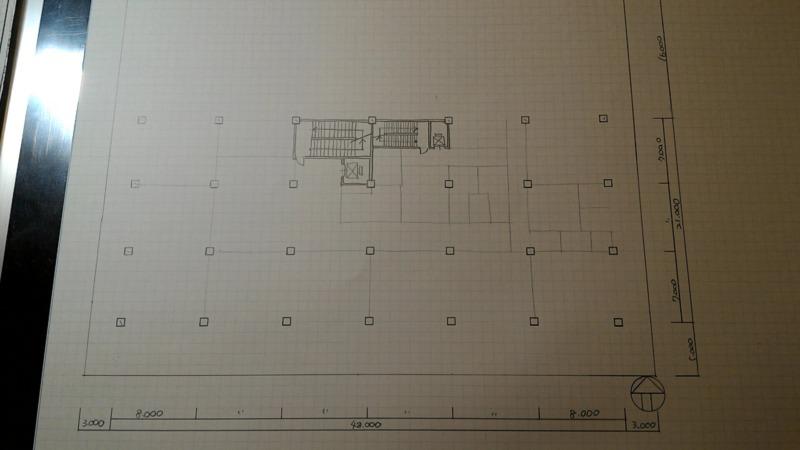 一級建築士製図試験作図手順5
