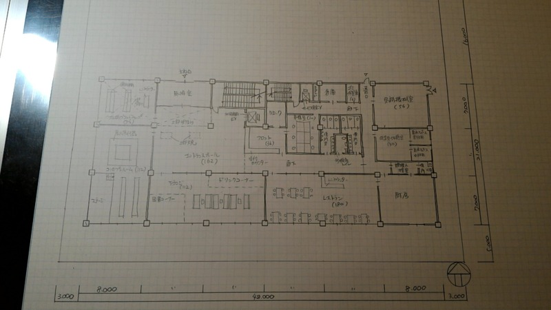 一級建築士製図試験作図手順7