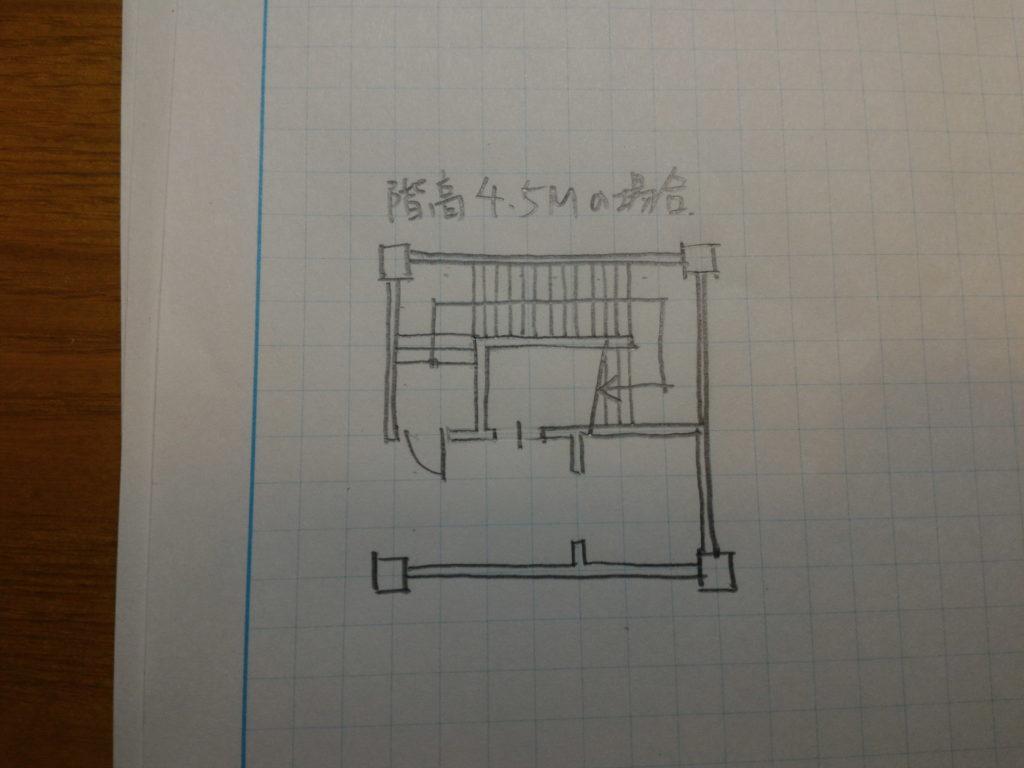階高4.5M階段作図2