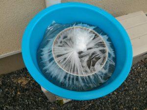 スリムハイキⅡファンを洗う