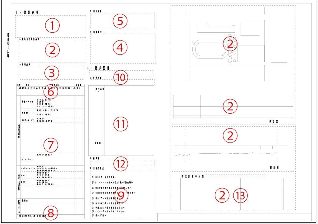 一級建築士製図試験課題読む順番