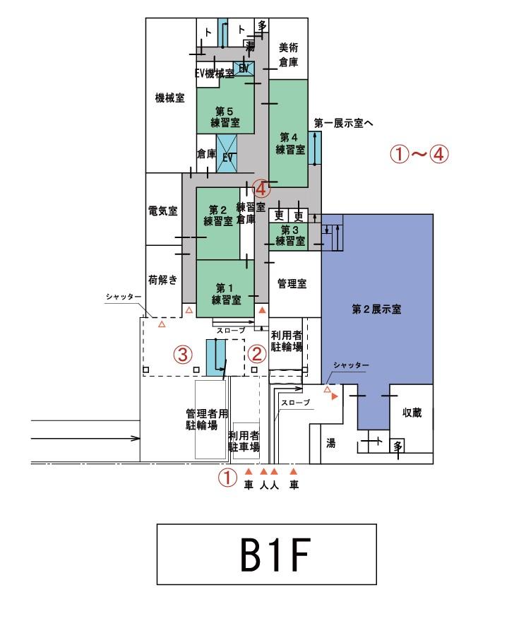 天神文化山プラザB1F平面