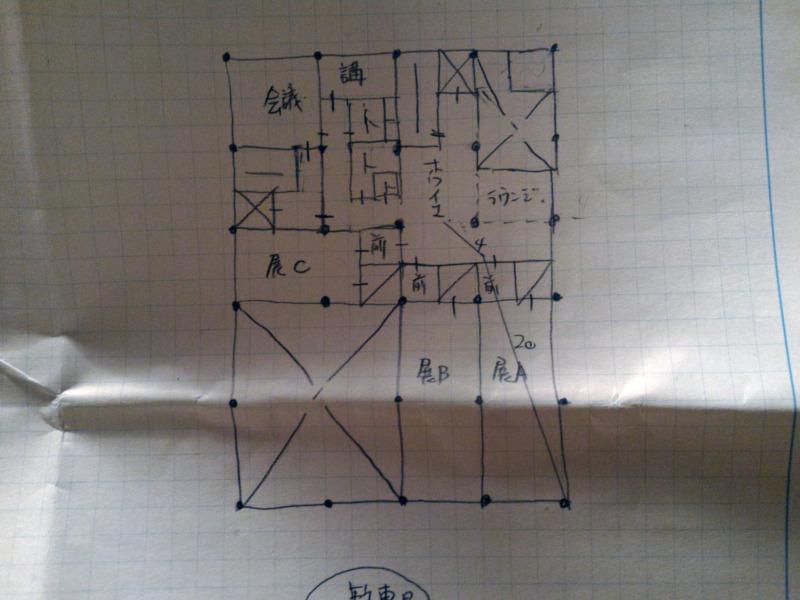 令和1年(2019年)製図試験エスキス400分の1_2F