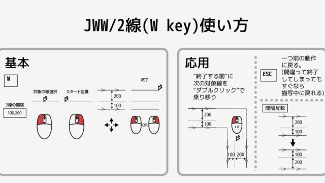jww jwcad 使い方 2線