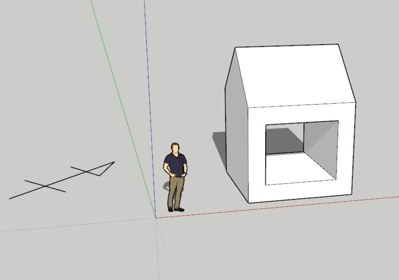 スケッチアップ(sketchup)真北方位の変更方法1