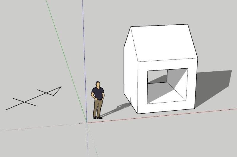 スケッチアップ(sketchup)真北方位の変更方法5
