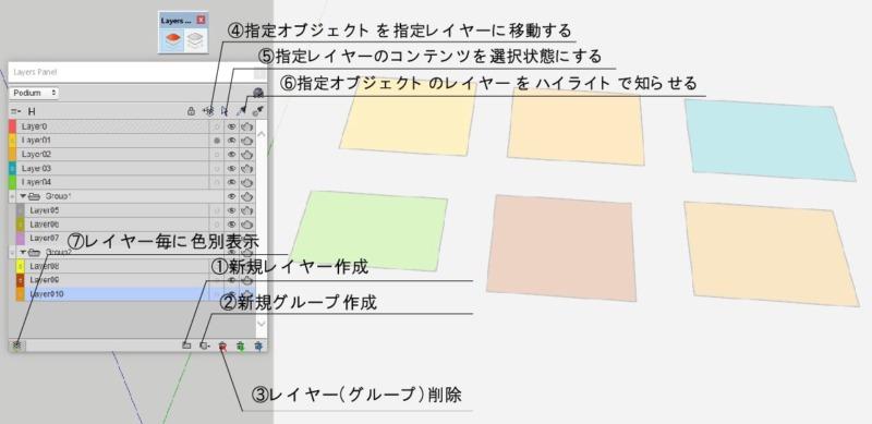 sketchupプラグインレイヤー管理説明