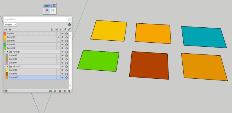 sketchupプラグインレイヤー管理 layerpanels
