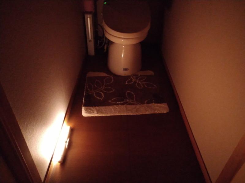 人感センサー付き照明(ライト)トイレ施工例