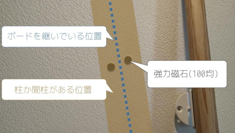 石膏ボード下地確認方法1