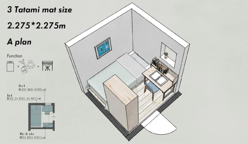3畳の子供部屋レイアウトA