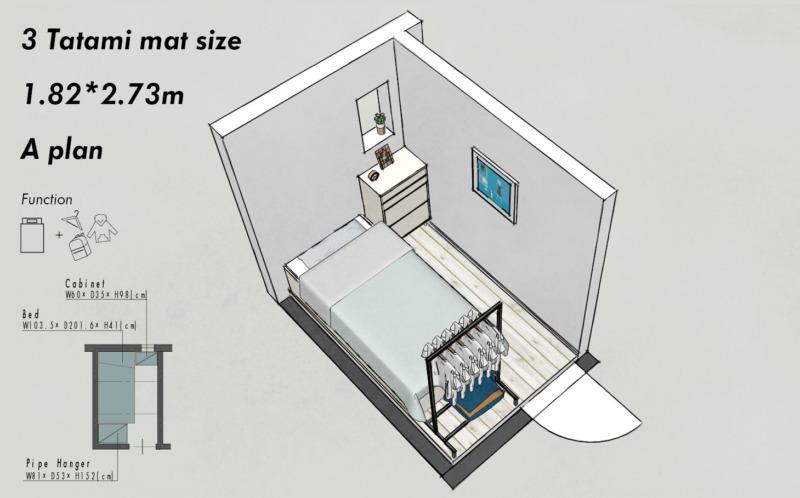 子供部屋3畳のレイアウトA