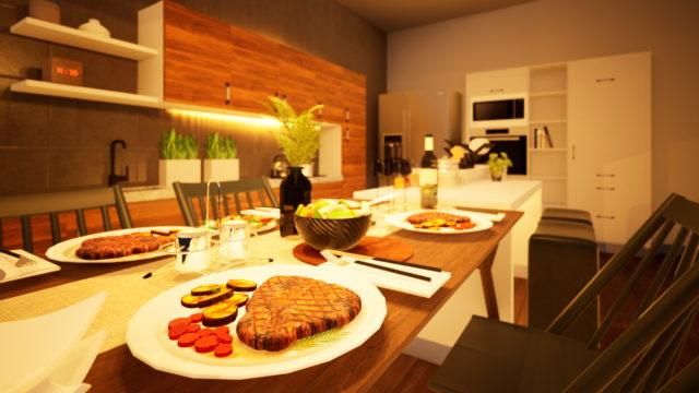 料理がおいしく見える照明