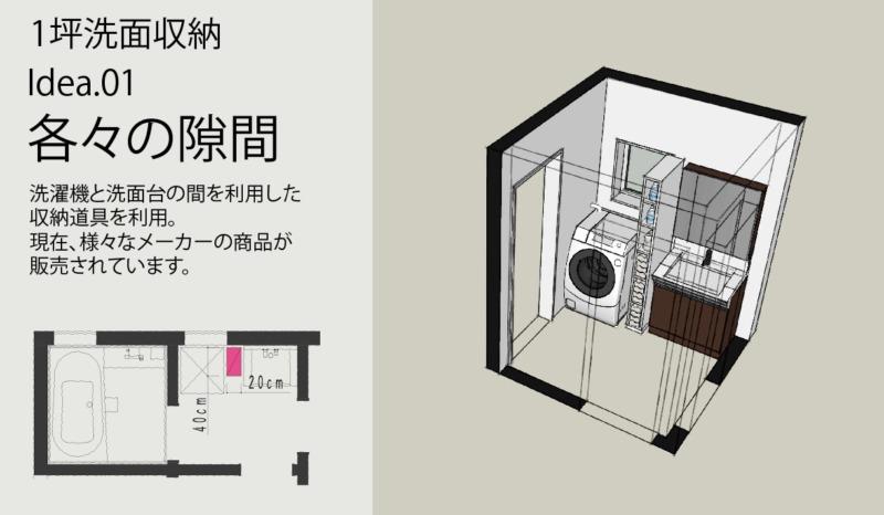 洗面タオル肌着収納方法1/隙間を使う