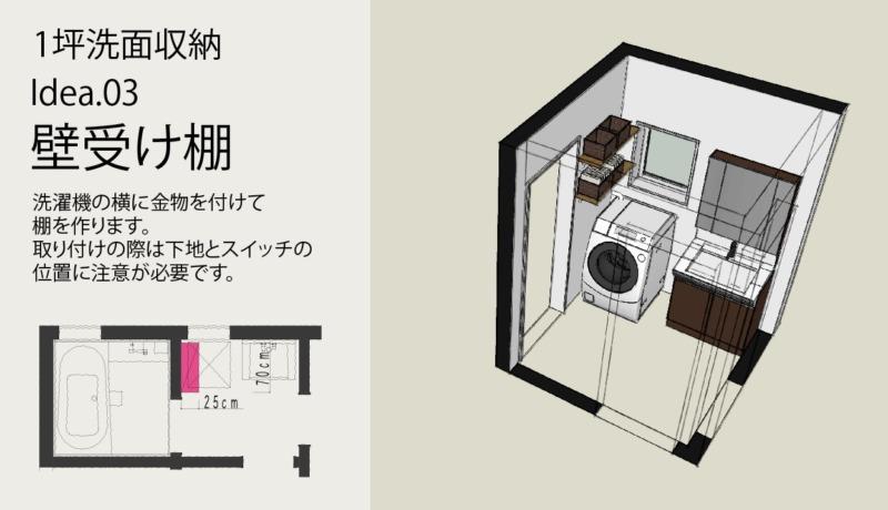 洗面タオル肌着収納方法3棚を取り付ける