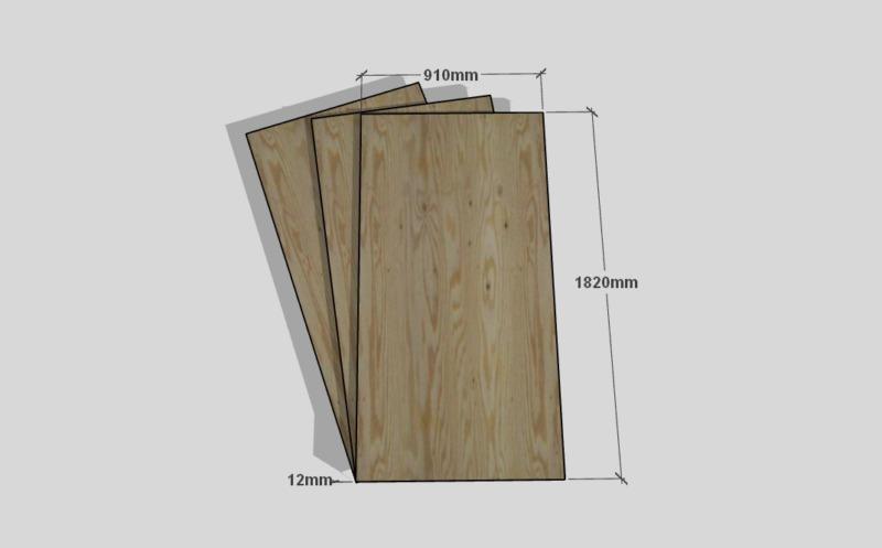 合板テーブル自作DIY1