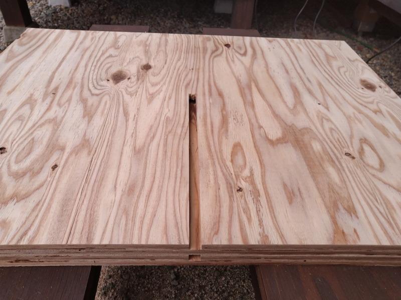 合板テーブル自作DIY5