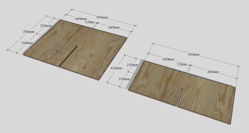 合板テーブル自作DIY4