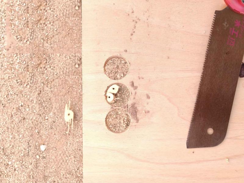 折りたたみ合板テーブルDIY1