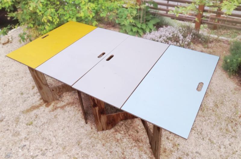 DIY作業テーブルと持ち運びできるアウトドアテーブル作り方