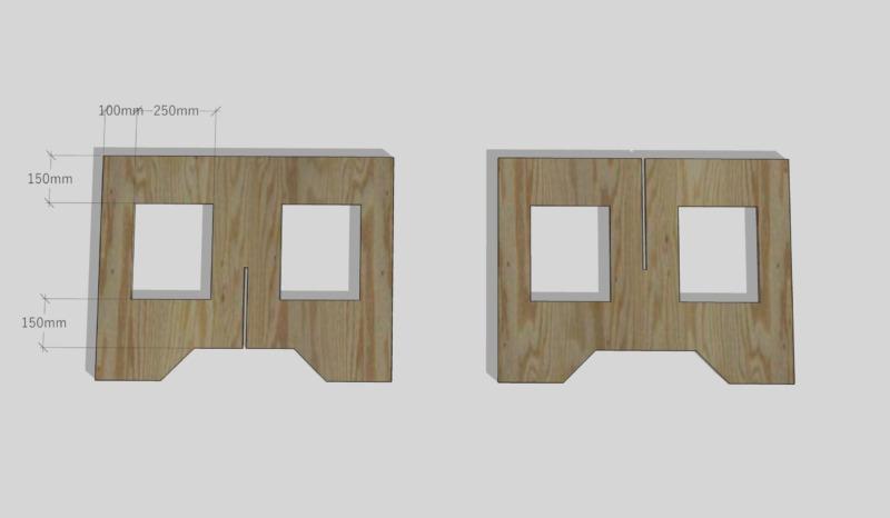 合板テーブル自作DIY7