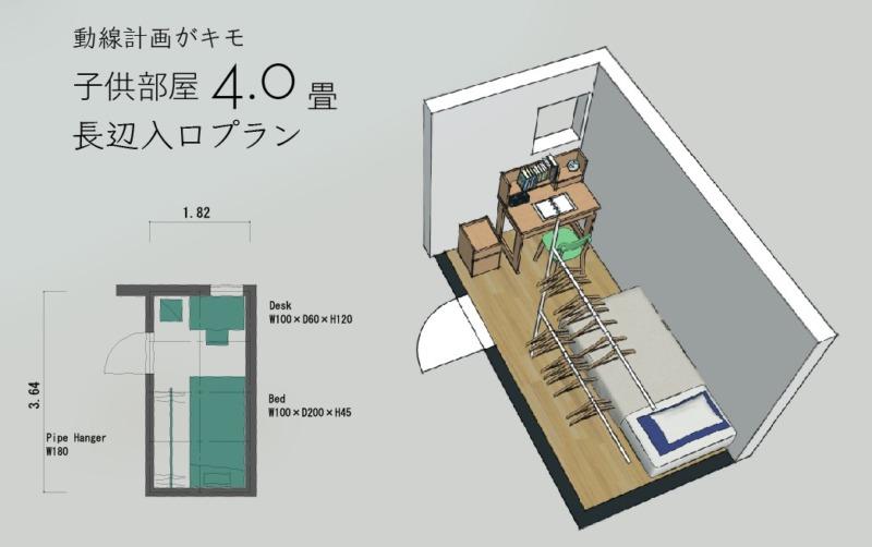 4畳子供部屋レイアウト2
