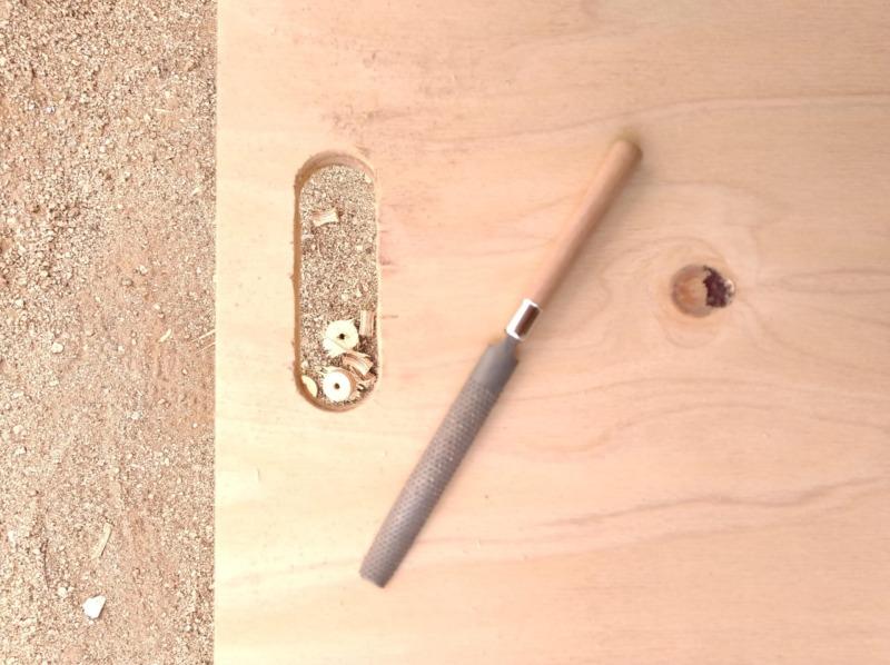 折りたたみ合板テーブルDIY3