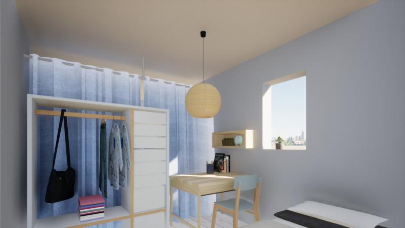 子供部屋簡単間仕切りカーテン2